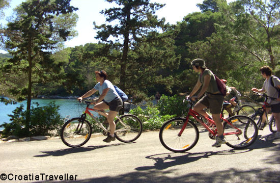 Biking in Mljet National Park