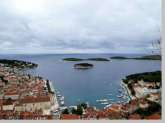 View from Hvar's fortress
