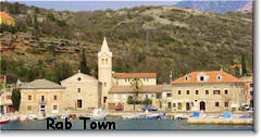 Rab Town port
