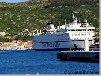 Jadrolinija ferry at Vis Town harbour