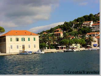 The port of Jelsa, Hvar Island