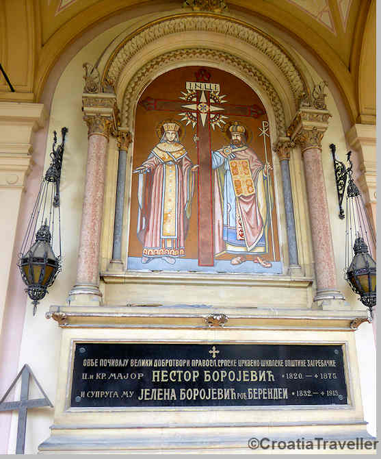 Orthodox tomb in Mirogoj cemetery, Zagreb