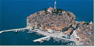 An aerial view of Rovinj