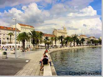 Split's seaside promenade
