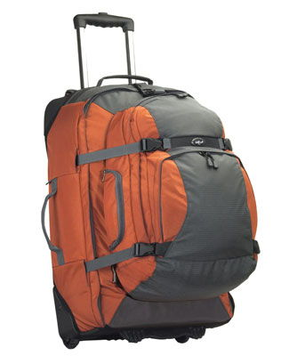 Switchback Max: A suitcase, backpack and day pack