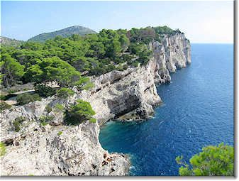 Telascica Nature Park cliffs