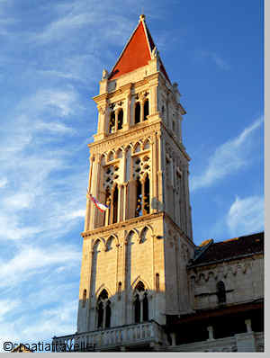 Trogir bell tower of St Lovro Cathedral