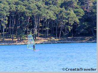 Windsurfing on Cikat Bay in Mali Losinj