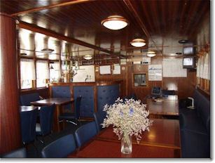 Dining room on the Croatian island cruise ship