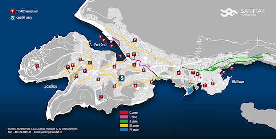 Dubrovnik Parking Zones
