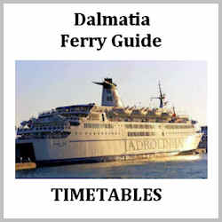 Dalmatia Ferry Guide Spring 2015
