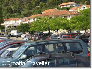 Parking outside Hvar Town