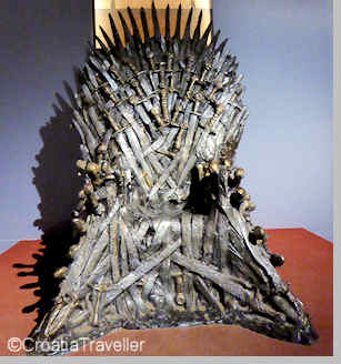 Iron Throne from Game of Thrones, Dubrovnik