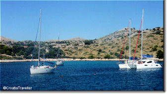 Bay in the Kornati Islands
