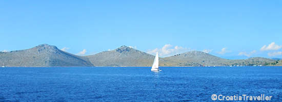 View of the Kornati islands