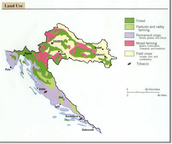 Land Use Map of Croatia