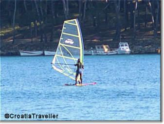 Windsurfing on Cikat Bay