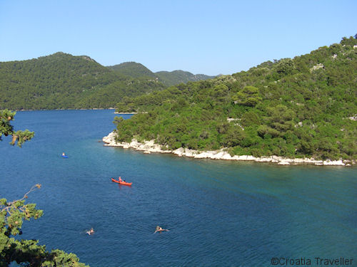 Mljet salt water lakes