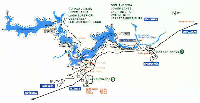 Plitvice map