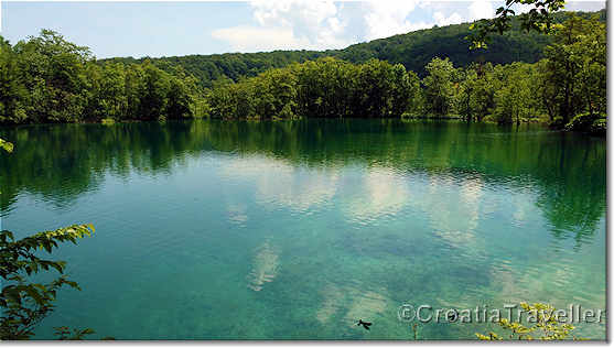 Upper lake in Plitvice Lakes National Park