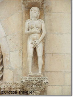 Sculpture on Trogir Cathedral