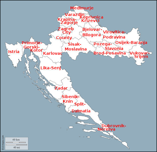 Croatian Regions Counties