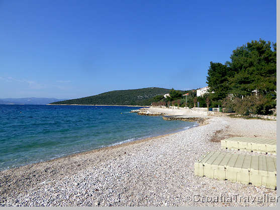 Beach at Maslinica, Solta island