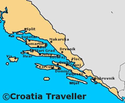 Island-hopping Split to Dubrovnik