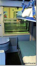 Train compartment Zagreb to Split