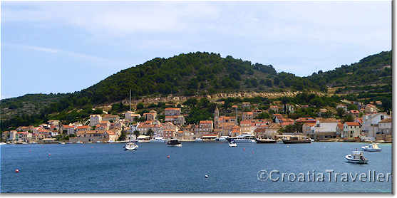 View of Vis town