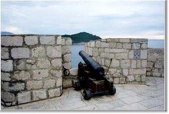 Cannon on Dubrovnik's walls