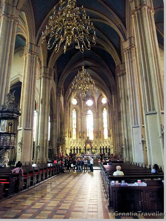 Interior of Zagreb Cathedral